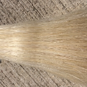 White/White (Cream) Tail Hair- 1/2 Pound Bundle